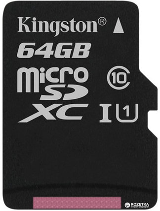 Карта памяти MicroSD 64GB Class 10 U1 Kingston SDCS/64GBSP, фото 2