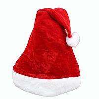 Новогодняя шапочка Санты (велюровая)