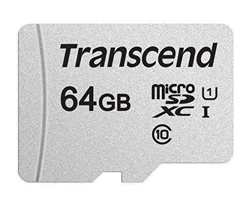 Карта памяти MicroSD 64GB Class 10 U1 Transcend TS64GUSD300S, фото 2