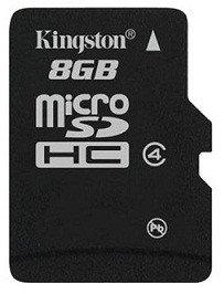 Карта памяти MicroSD 8GB Class 4 Kingston SDC4/8GBSP, фото 2