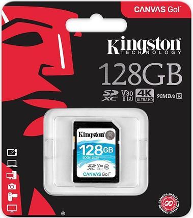 Карта памяти SD 128GB Class 10 U3 Kingston SDG/128GB, фото 2