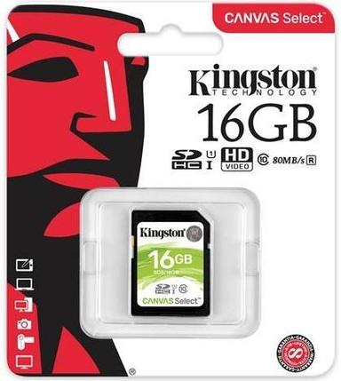 Карта памяти SD 16GB Class 10 U1 Kingston SDS/16GB, фото 2
