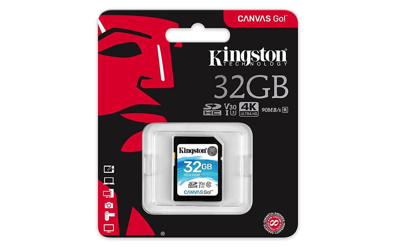 Карта памяти SD 32GB Class 10 U3 Kingston SDG/32GB