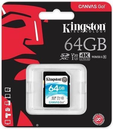 Карта памяти SD 64GB Class 10 U3 Kingston SDG/64GB, фото 2