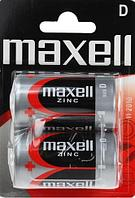 Батарейки солевые   Maxell, R20, D