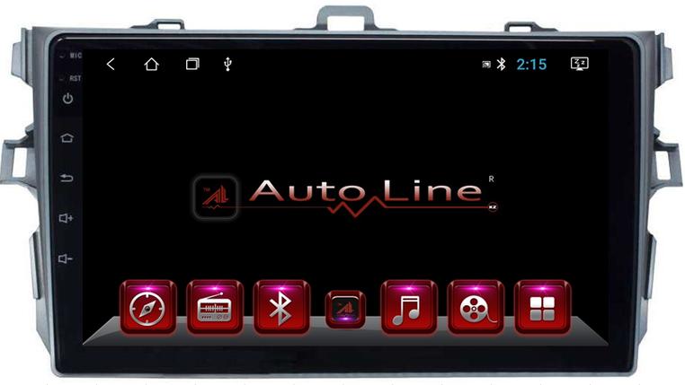 Автомагнитола AutoLine Toyota Corolla 2007-2013  HD ЭКРАН 1024-600 ПРОЦЕССОР 8 ЯДЕР (OCTA CORE), фото 2