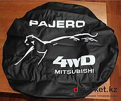 "Чехол на запасное колесо R16 ""Pajero 4WD Mitsubishi"", кожзам"