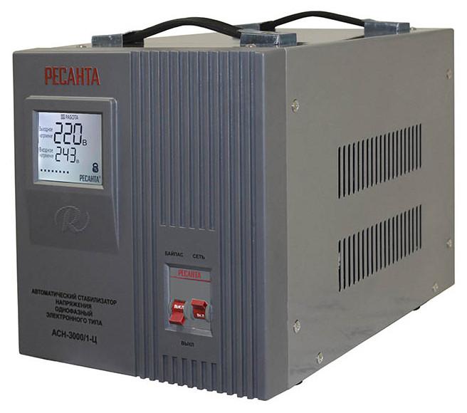Стабилизатор АСН-3000 Вт (3кВт) напольный Ресанта