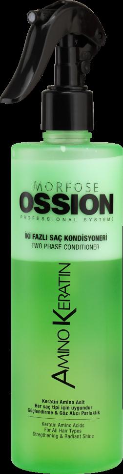 Morfose Ossion Amino Keratin Спрей-кондиционер Двухфазный для всех типов волос 400 мл