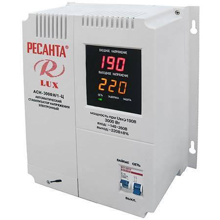 Стабилизатор напряжения Ресанта АСН-3000 Н/1-Ц Lux настенный