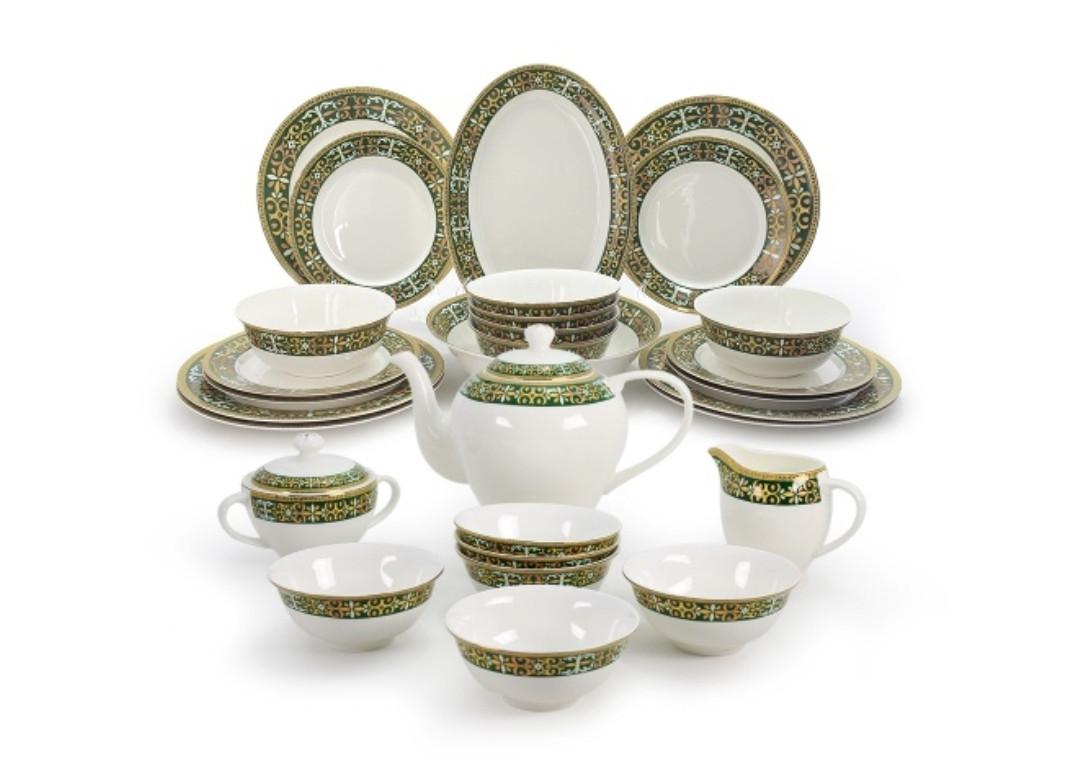 Салтанат столово-чайный сервиз с пиалами на 6 персон