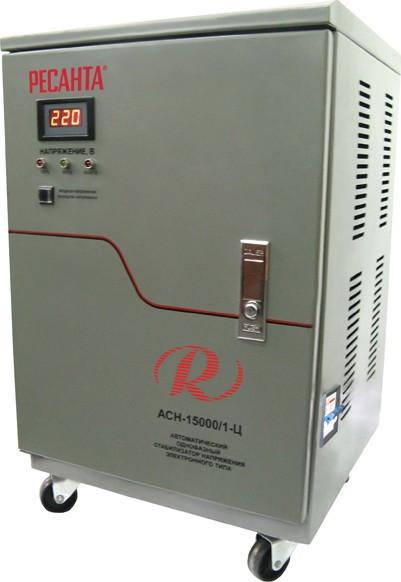 Стабилизатор напряжение 15000/1 АСН  Ресанта напольный 15 кВт