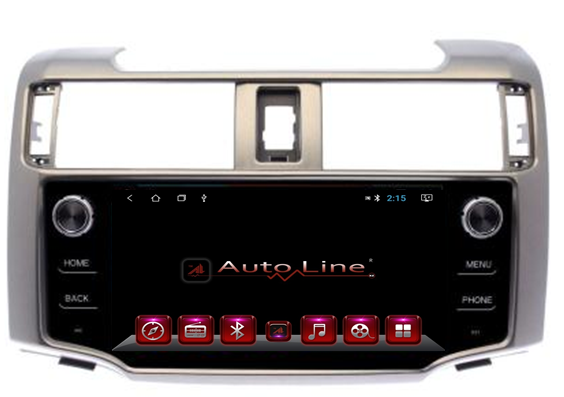 Автомагнитола AutoLine Toyota 4Runner 2009-2018 ПРОЦЕССОР 4 ЯДРА (QUAD CORE), фото 2