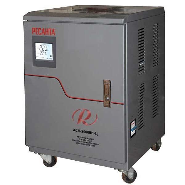 Стабилизатор напряжение 20000/1 АСН  Ресанта напольный 20 кВт
