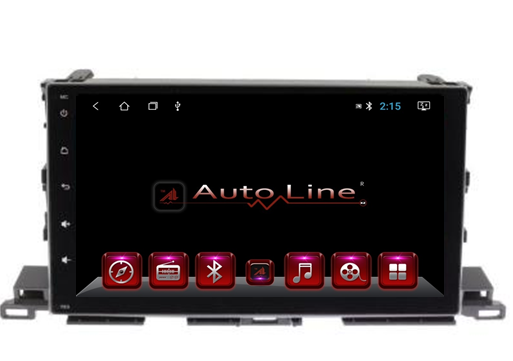 Автомагнитола AutoLine Toyota Highlander 2013-2017 ПРОЦЕССОР 8 ЯДЕР (OCTA CORE), фото 2