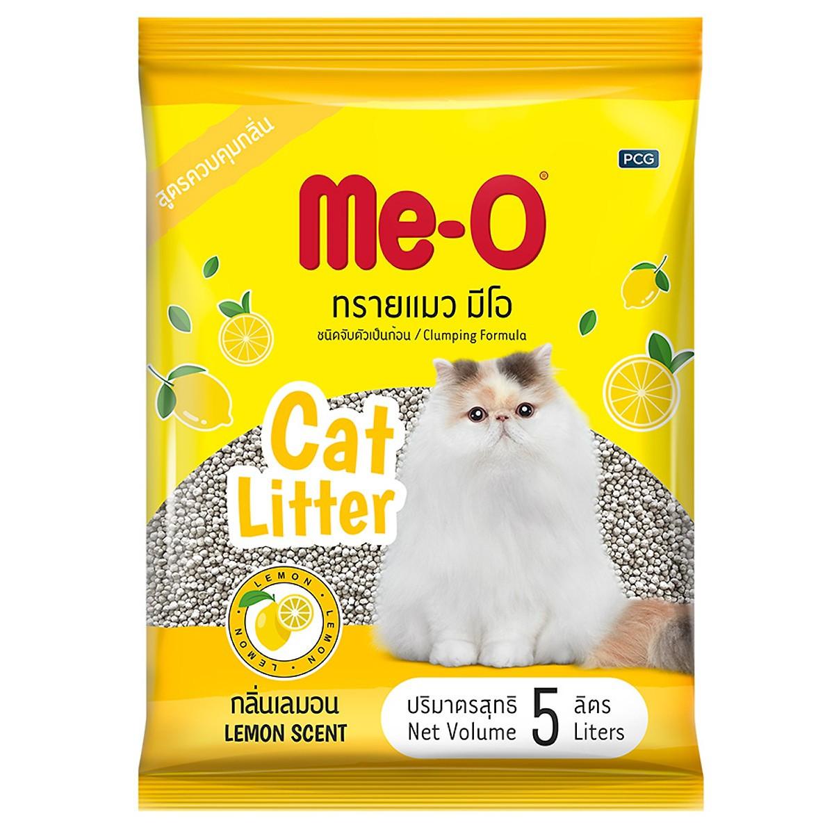 Me-O Наполнитель комкующийся Лимон, 5 л