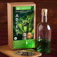 """Набор для приготовления алкоголя """"Абсент"""": набор трав и специй и бутылка, фото 1"""