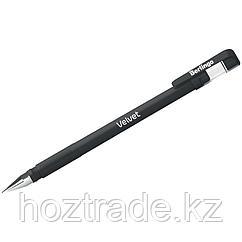 """Ручка гелевая Berlingo """"Velvet"""" черная, 0,5 мм, прорезиненный корпус"""