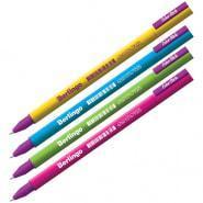"""Ручка гелевая Berlingo """" Color Stick"""" черная, 0,5 мм, корпус ассорти"""