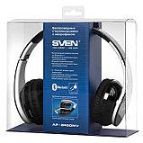 SVEN SV-012694 AP-B450MV Наушники накладные с микрофоном беспроводные Bluetooth стерео, черные, фото 2