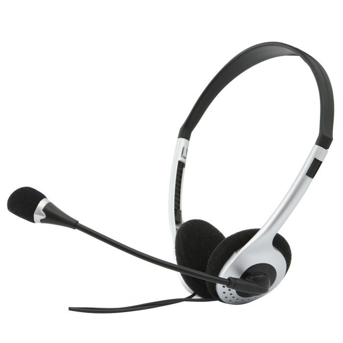 SVEN SV-0410010MV AP-010MV Наушники с микрофоном, цвет черный-серебристый