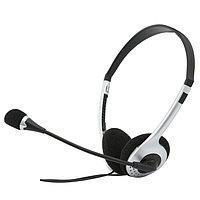 SVEN AP-010MV Наушники с микрофоном, цвет черный-серебристый