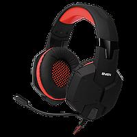SVEN AP-G988MV наушники с микрофоном, игровые стерео , цвет черный-красный