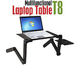 Стол для ноутбука с охлаждением с подставкой для мышки Laptop table T8, фото 7