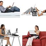 Стол для ноутбука с охлаждением с подставкой для мышки Laptop table T8, фото 5