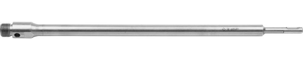 Державка ЗУБР для буровой коронки с хвостовиком SDS Plus, конусное крепление центров сверла, L 450мм