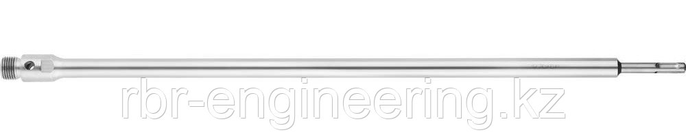 Державка ЗУБР для бур коронки с хвостовиком SDS Plus, конусное крепление центров сверла, L 600мм