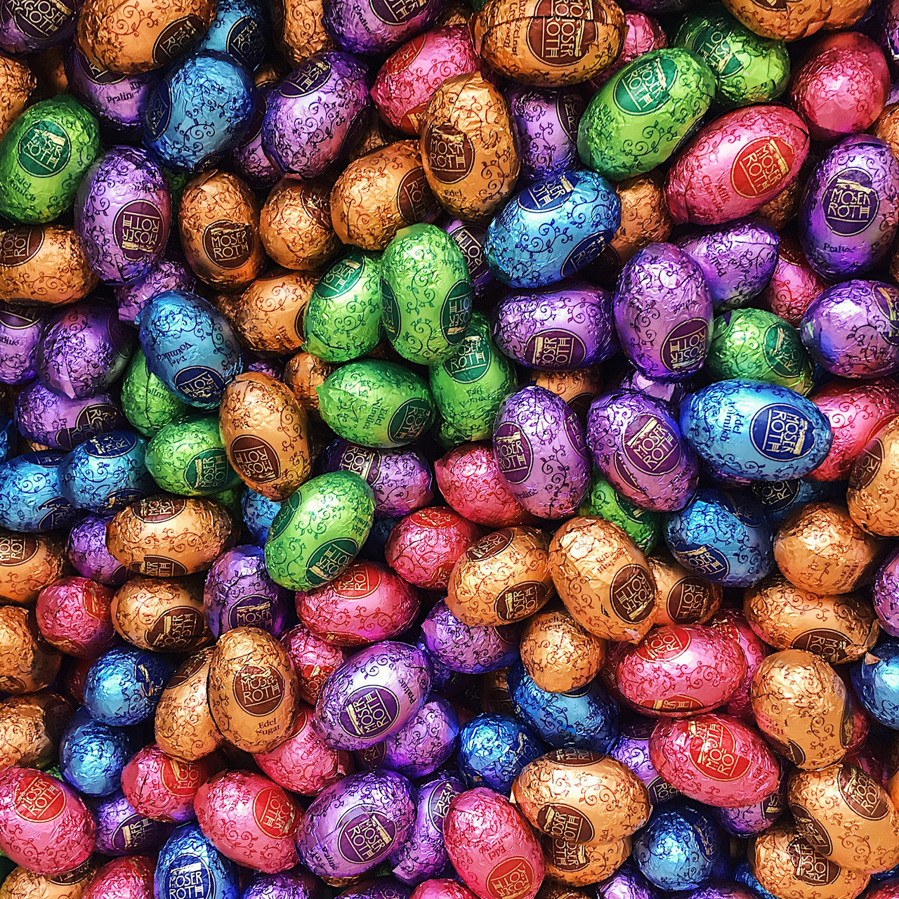 Яйца шоколадные Moser Roth (АССОРТИ)   1кг