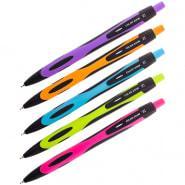 """Ручка шариковая автоматическая Berlingo """" Color Zone"""" 0,7 мм синяя, корпус ассорти"""