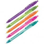 """Шариковая ручка автоматическая Berlingo """"Hyper X"""" синяя, 0,7 мм, игольчатый стержень,корпус ассорти"""