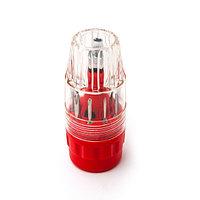 Набор отвёрток, CREST, C311, 11 ед., Пластиковый чехол, 45-50 HRC, Чёрно-Красный, Цветная коробка