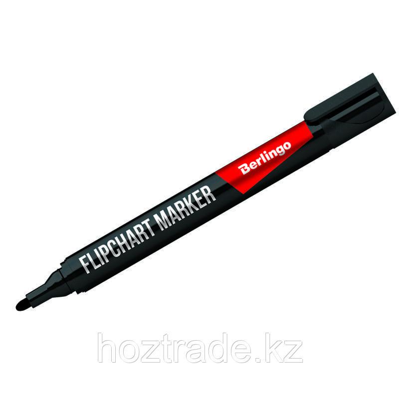 Маркер для флипчарта Berlingo черный, пулевидный, 2 мм