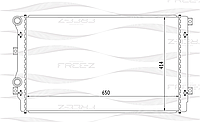 BANCO Радиатор Volkswagen Golf V, VW Touran 1.9Tdi, Audi A3 ( Manual / Auto AC +/-) (OEM 1KO.121.253H)