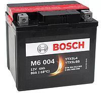 "BOSCH Аккумулятор AGM 4Ah  504012   ""-  +""  114x71x106  0092M60040"