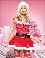 Мини платье Санта с пояском