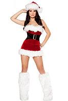 Санта -  Мини юбка, корсет, гетры, фото 1