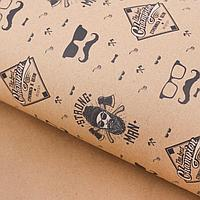 Бумага упаковочная крафтовая Strong man, 50 × 70 см, фото 1