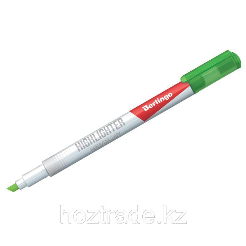 """Текстовыделитель Berlingo """"Slim"""" зеленый 0,5-4 мм"""