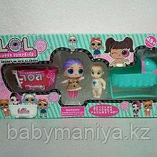 Набор Куколка Лол с люлькой и ванной Реплика