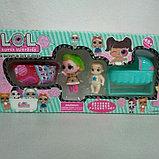 Набор Куколка Лол с люлькой и ванной Реплика, фото 3