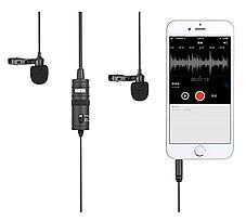 BOYA BY-M1DM  двойной Петличный стерео микрофон для смартфонов!, фото 2