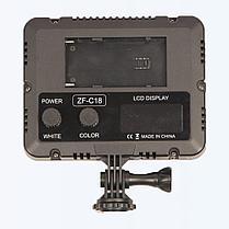 LED прожектор фонарь накамерный ZF-C18 цветной, фото 2