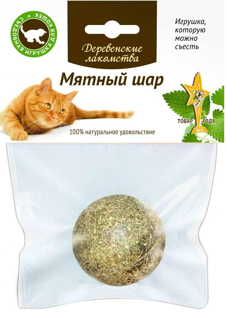"""Деревенские лакомства """"Мятный шар"""" игрушка для кошек"""