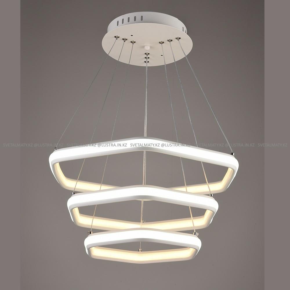 Светодиодная люстра в современном стиле на 3 лампы