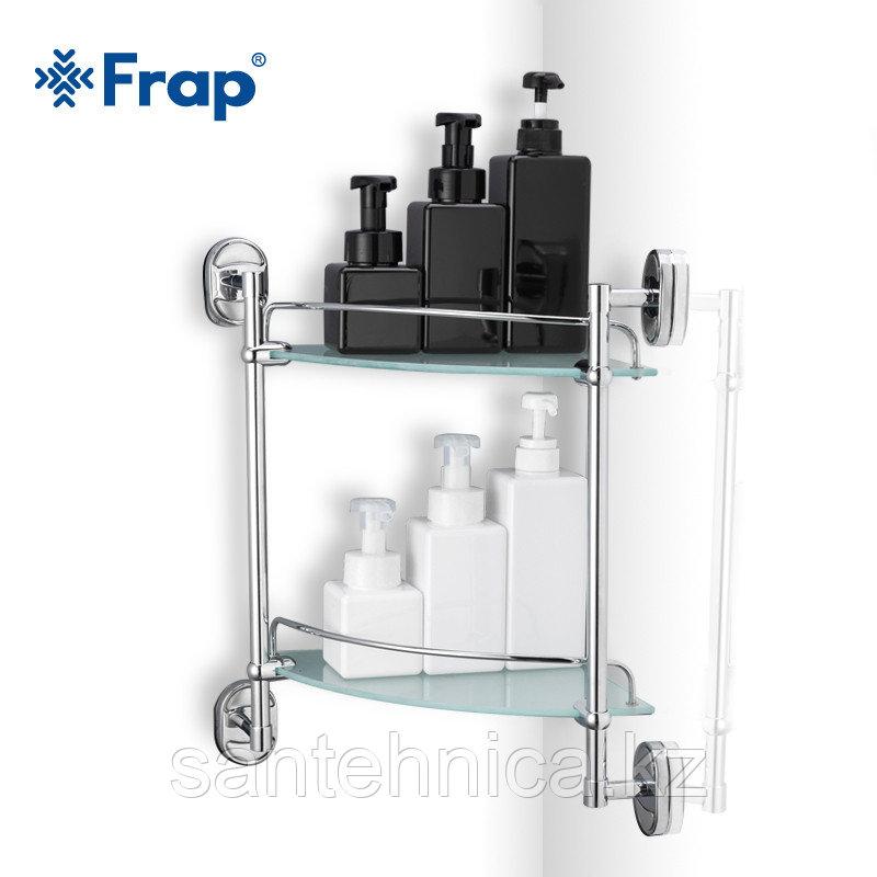 FRAP F1907-2 Полка угловая 2-ярусная стекло
