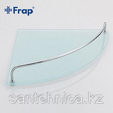 FRAP F1907-2 Полка угловая 2-ярусная стекло, фото 2